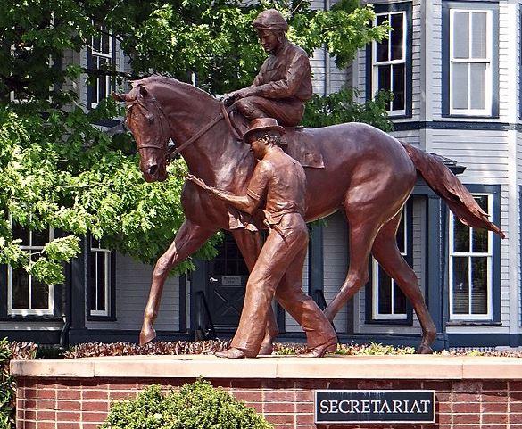 secretariat most famous racehourse statue at Kentucky Horse Park